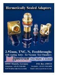 Hermetically Sealed Adapters - Spectrum Elektrotechnik GmbH