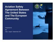 Aviation Safety Agreement Between The United States and The - FAA