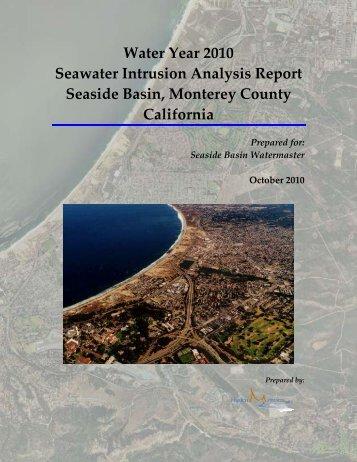 Seawater Intrusion Analysis Report - Seasidebasinwatermaster.org