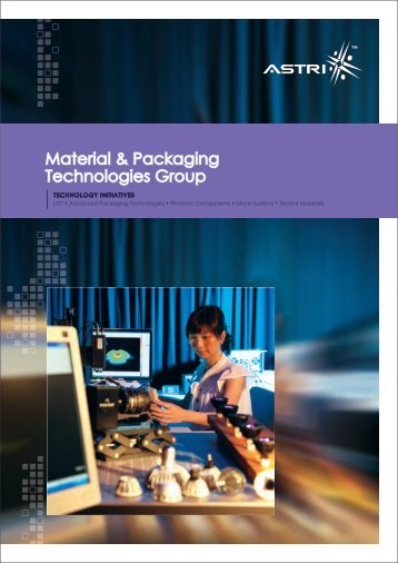 Material & Packaging Technologies Group Material ... - Astri