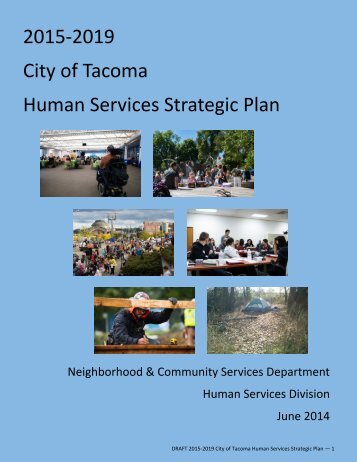 2015-2019 City of Tacoma Human Services Strategic Plan FINAL