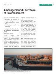 Aménagement du Territoire et Environnement