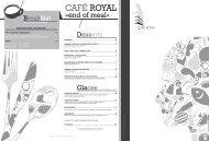 Télécharger la carte du restaurant - Hotel Royal Antibes