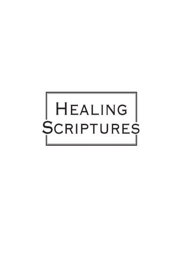 Healing Scriptures from Joyce Meyer Ministries - Faith and Health ...