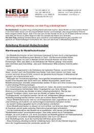 Anleitung Koaxial-Helikopter - Hebu Shop