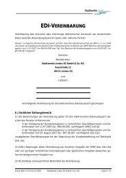 EDI-Vereinbarung - Stadtwerke Lindau