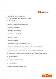 KTM X-BOW Media Information