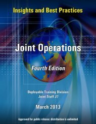 Insights and Best Practices, Joint Operations, March 2013 - Defense ...