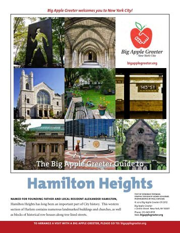 Hamilton Heights Neighborhood Profile - Big Apple Greeter