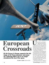 US Air Forces in Europe supports the full range ... - Air Force Magazine