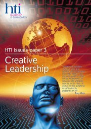 Why is creative leadership - HTI