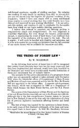 THE TREND OF FOREST LAW * - New Zealand Journal of Forestry