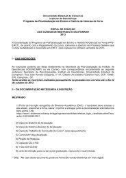Universidade Estadual de Campinas Instituto de ... - IGEO- Unicamp