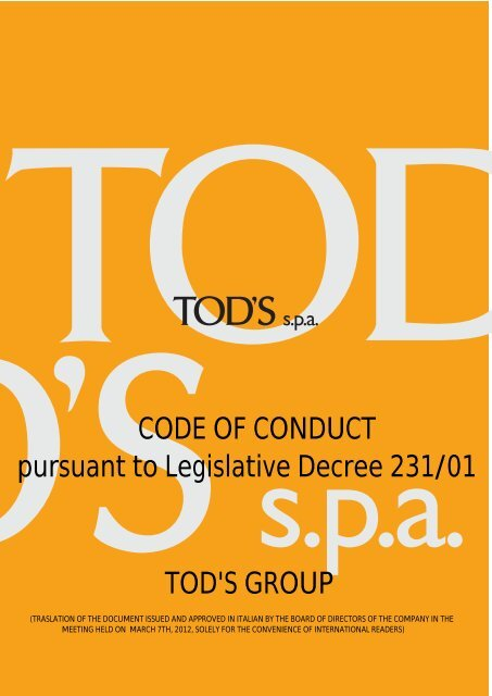 Code of conduct 01