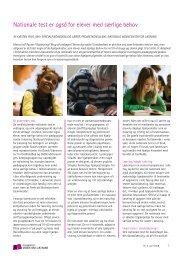 Nationale test er også for elever med særlige behov - Viden om ...