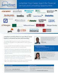 JumpStart MBA Financial Services and Consulting Diversity Forum