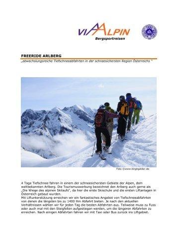 FREERIDE ARLBERG - Via-Alpin.de