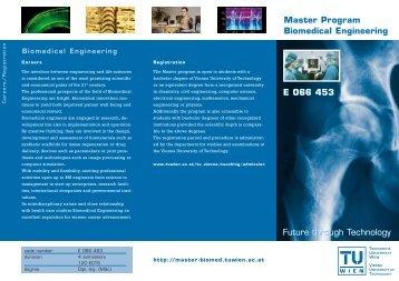 E 066 453 Master Program Biomedical Engineering