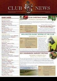 December - The Wellington Club