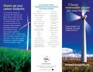 renewable power - Portland General Electric