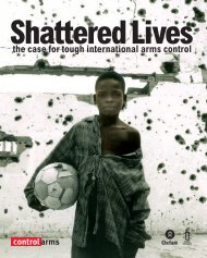 Shattered Lives: The Case for Tough International ... - Control Arms