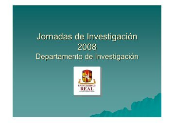 Jornadas de Investigación 2008