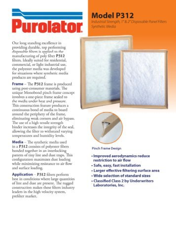 P-P312 Brochure - Purolator Air Filtration