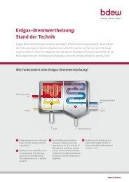 Erdgas-Brennwertheizung: Stand der Technik