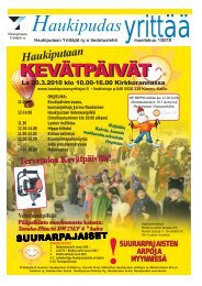 haukipudas yrittää 1/2010 - Pudasjärvi-lehti ja VKK-Media Oy