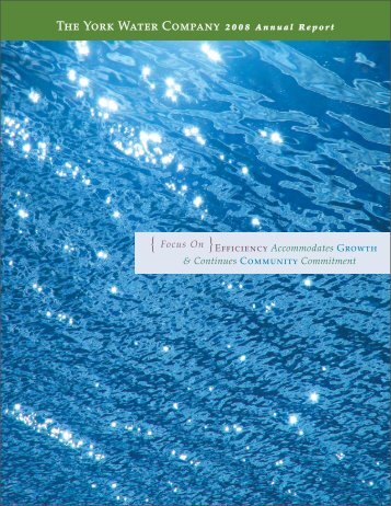 2008 Annual Report - The York Water Company
