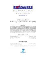 Deliverable D1.7 Technology Implementation Plan ... - AVANTSSAR