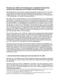 Hinweise der LANA zur Anwendung des europäischen Artenschutz ...