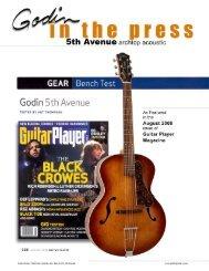 Godin 5th Avenue - Godin Guitars