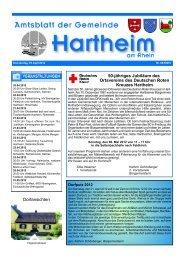 Wir sind für Sie da! - Gemeinde Hartheim
