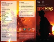 Los Padres National Forest Hotshot Recruiting Brochure
