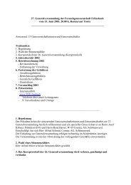 Protokoll der 27. GV vom 13.6.2003 - Fernseh Genossenschaft ...