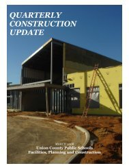 March 2008 - Facilities - Union County Public Schools