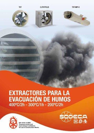 EXTRACTORES PARA LA EVACUACIÓN DE HUMOS - Sodeca