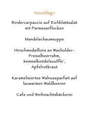 Vorschlag 1 Rindercarpaccio auf Eichblattsalat mit ... - Gitschtaler.at