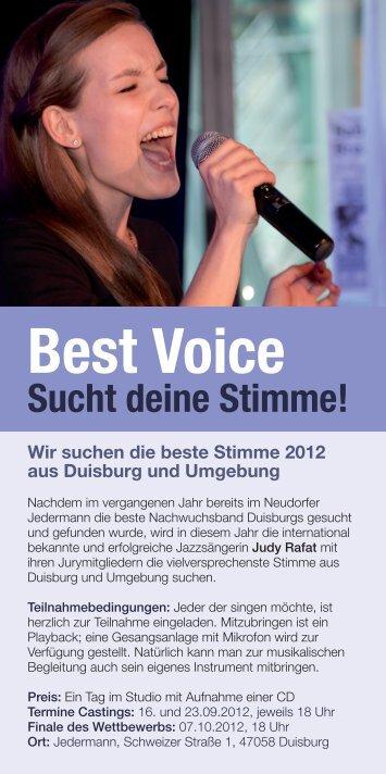 Best Voice Sucht deine Stimme! - Rafat, Judy