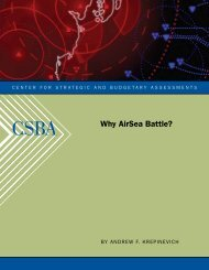 Why AirSea Battle? - Center for Strategic and Budgetary Assessments