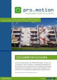 ZUsammenfassUng - pro.motion