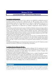 Bilan d'émissions de gaz à effet de serre 2011 - CIC