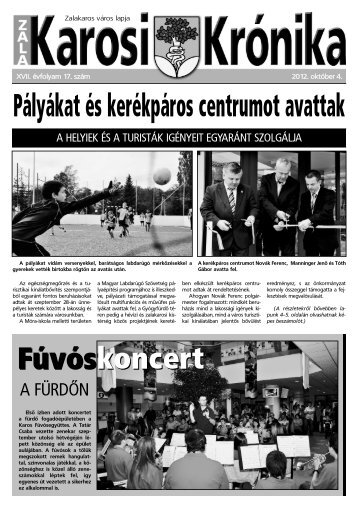 2012. október 4-i szám - Zalakaros