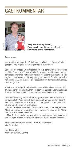 Klaaf 01/13 - Mwk-koeln.de