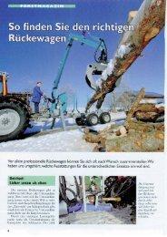 Zeitschrift Top agrar Kaufberater Rückeanhänger - Pfanzelt ...