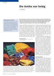 Die Antike war farbig - Haus der Farbe