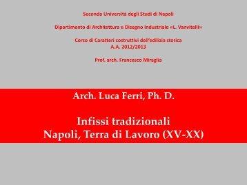 Lezione. Infissi tradizionali: Napoli, Terra di Lavoro (XV-XX)