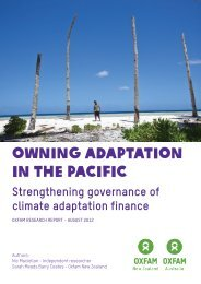 Owning Adaptation - Exec Summary - final.pdf - Oxfam New Zealand
