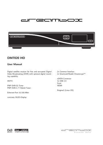 Dreambox 7020 s User Manual